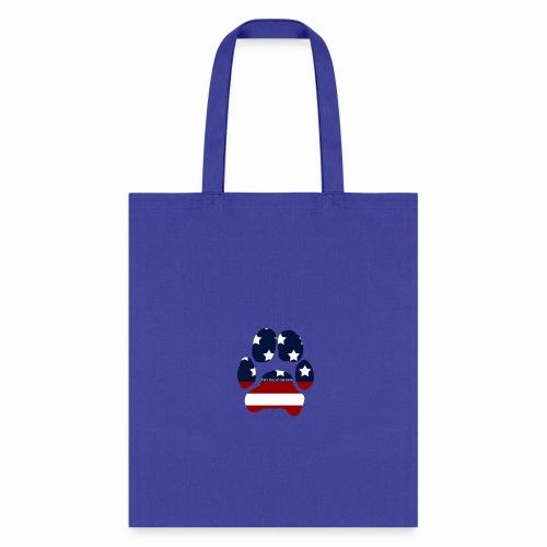 Just A Girl And Her Doggo USA Paw Print - Tote Bag