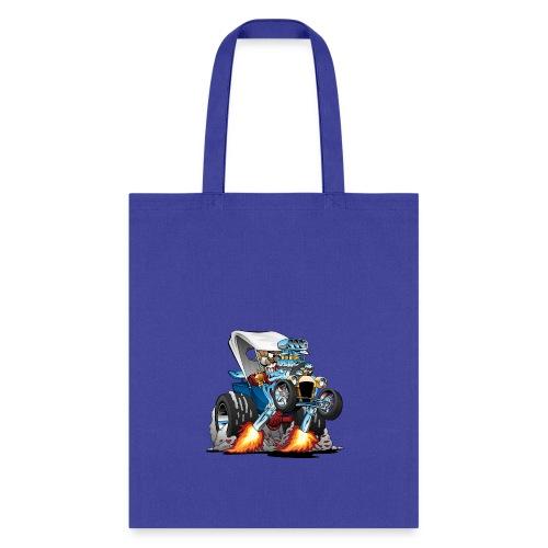 Custom T-bucket Roadster Hotrod Cartoon - Tote Bag