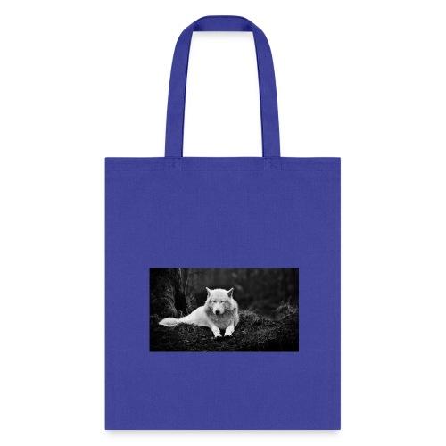 Slick White Wolf - Tote Bag