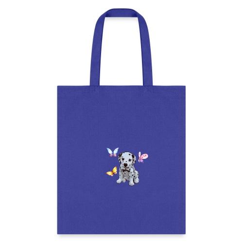 Dalmatian with Butterflies shirt - Tote Bag