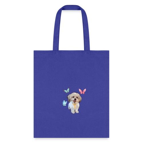 Shih Tzu Butterflies design - Tote Bag