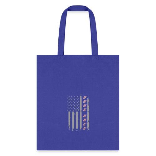 American Drag Racer Flag - Tote Bag