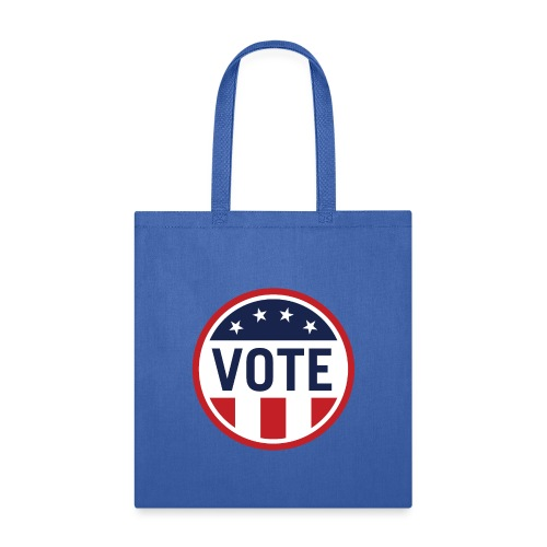 Vote Red White and Blue Stars and Stripes - Tote Bag