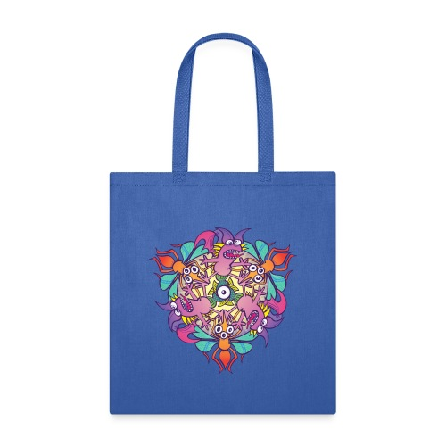 Mosquitoes, bats and fishes in doodle art style - Tote Bag