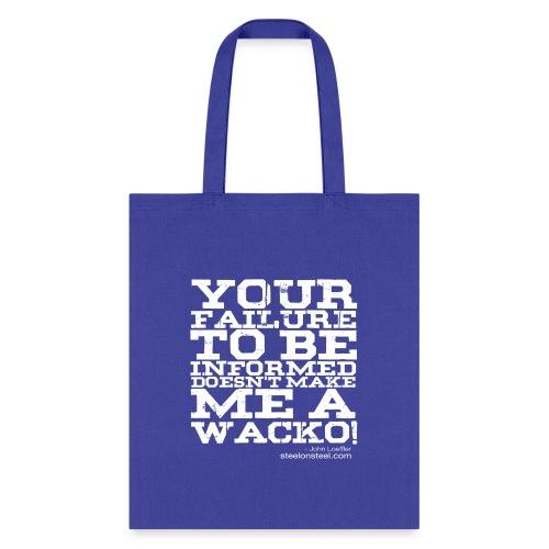 SOS Wacko White Logo - Tote Bag