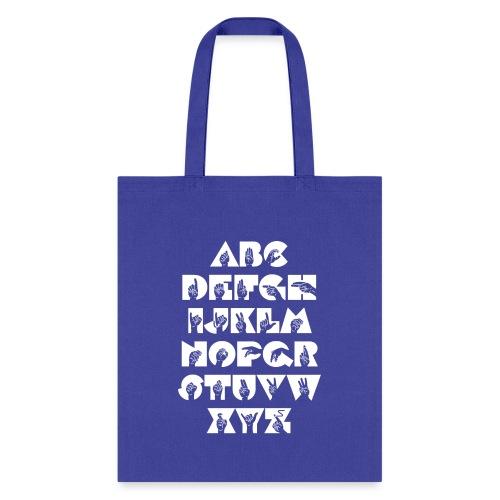 ASL Alphabet - Tote Bag