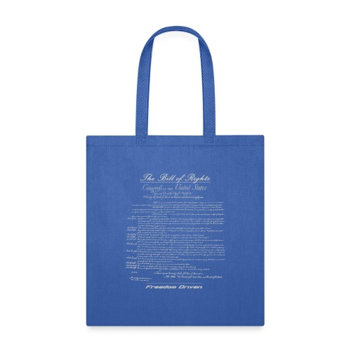 US Bill of Rights Grey Lettering - Tote Bag