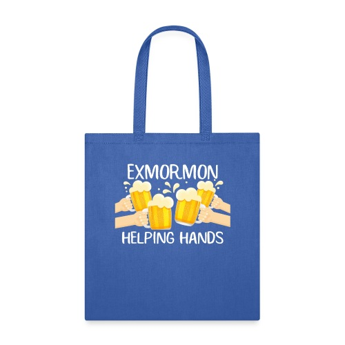 Exmormon Helping Hands white typo - Tote Bag