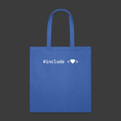 White Include Heart - Tote Bag