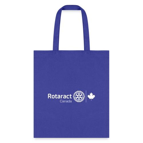 Rotaract Canada White Double Masterbrand - Tote Bag