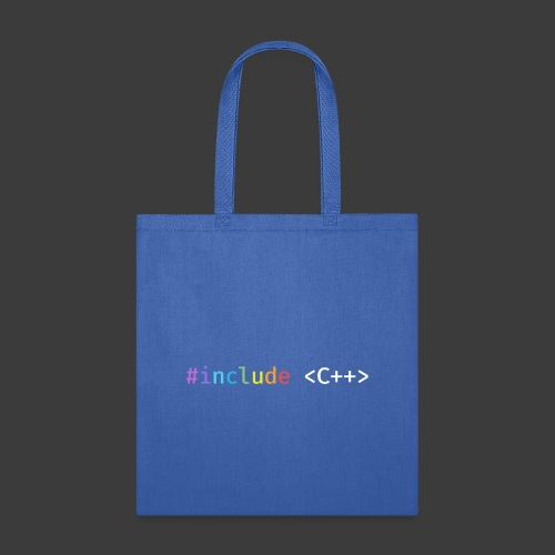 Rainbow Include C++ (Dark Background) - Tote Bag