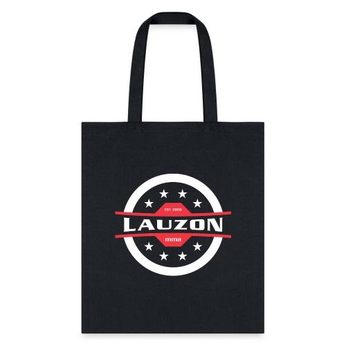 White on Black Lauzon MMA Logo w No Words - Tote Bag