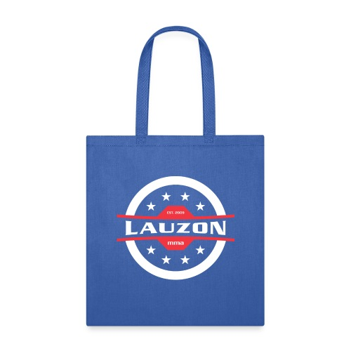 White on Black Lauzon MMA Logo w No Words - Tote Bag