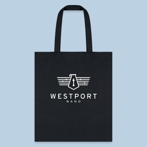 Westport Band White on transparent - Tote Bag