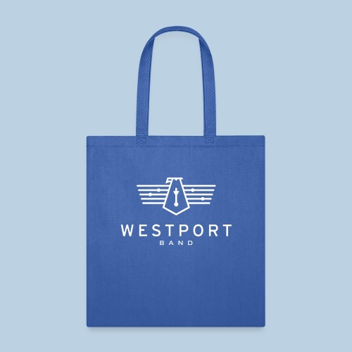Westport Band White on transparent - Tote Bag