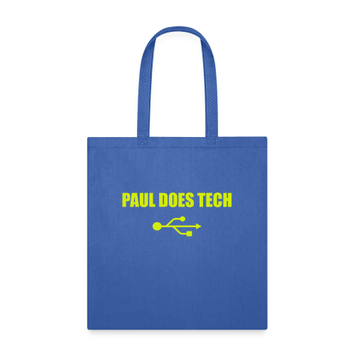 Paul Does Tech Logo Yellow With USB (BS) - Tote Bag