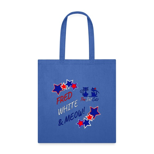FRED WHITE BLUE SLOTCATS - Tote Bag