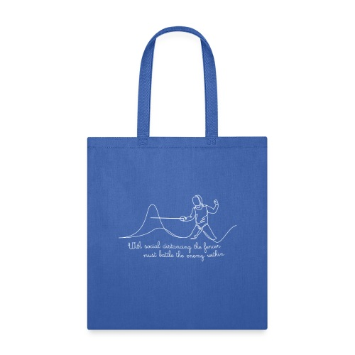 Social distance - white text - Tote Bag