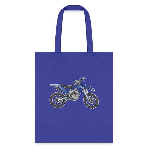 Motocross motorcycle (blue ) - Tote Bag