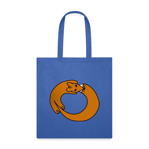 Fox Curled Up in a Circle - Tote Bag