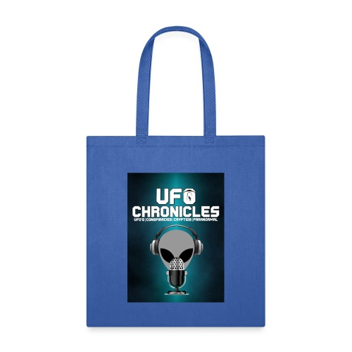 UFO Chronicles Logo with Grey Mike - Tote Bag