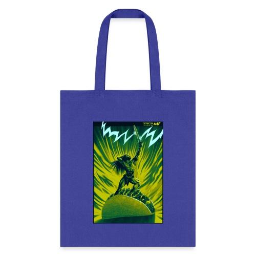 TACO BARBARIAN (green n blue variant) - Tote Bag