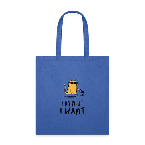 I Do What I Want Grumpy Cat Spilling Coffee - Tote Bag