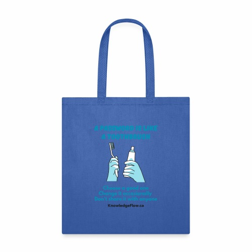 A Password is Like a Toothbrush...(2) - Tote Bag