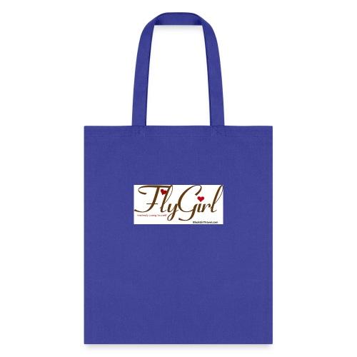 FlyGirlTextGray jpg - Tote Bag