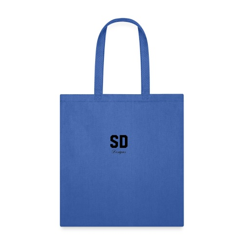 SD Designs blue, white, red/black merch - Tote Bag