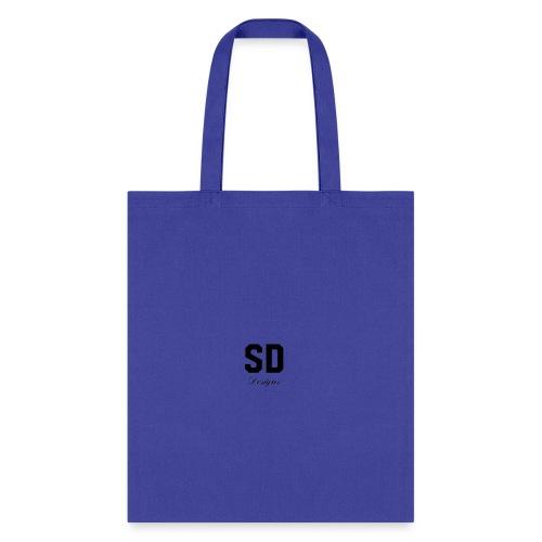 SD Designs blue, white, red/black merch - Tote Bag