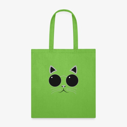 Hipster Cat T-Shirt - Tote Bag