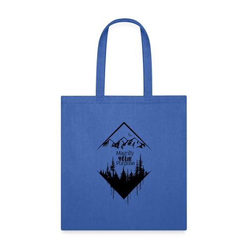 Half Moon Mountains over Forest Dark 2 - Tote Bag
