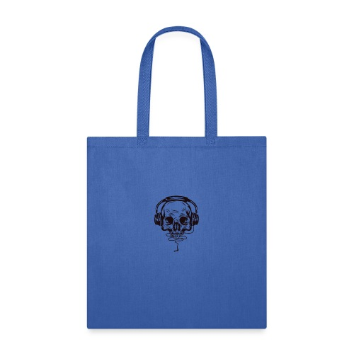 music skull head - Tote Bag
