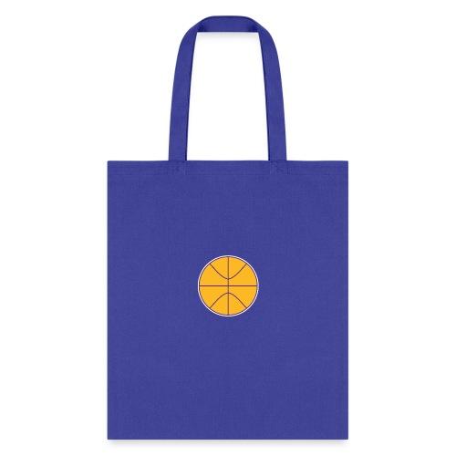 Basketball purple and gold - Tote Bag