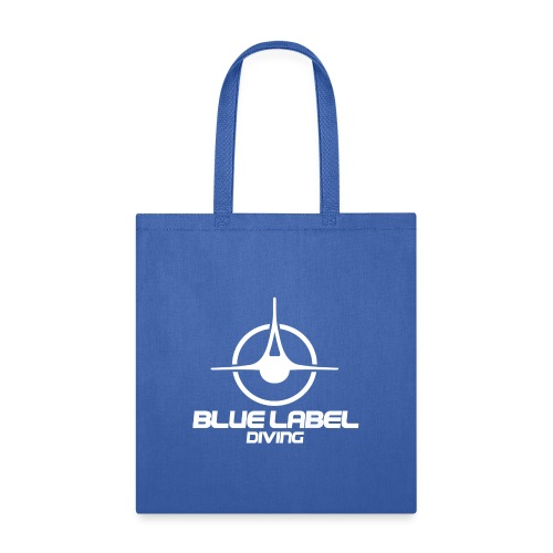 BLD logo with text white - Tote Bag
