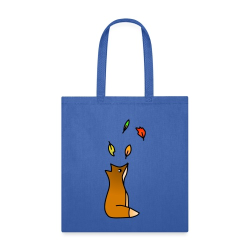 Fox with Leaves - Tote Bag