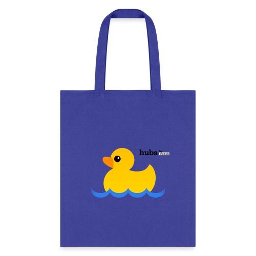 Hubs Duck - Wordmark and Water - Tote Bag
