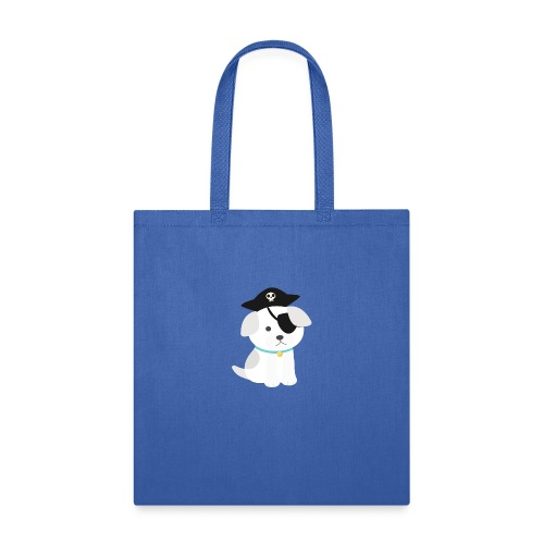 Dog with a pirate eye patch doing Vision Therapy! - Tote Bag