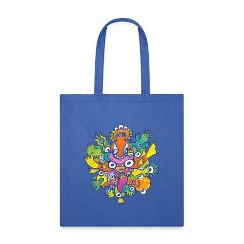 Don't let this evil monster gobble our friend - Tote Bag