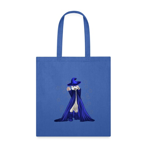 Cat Wizard with Stars - Tote Bag