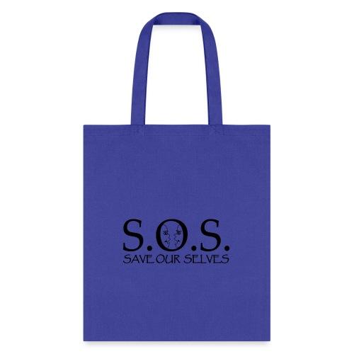 SOS Black on Black - Tote Bag