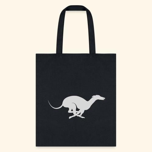 Light Grey Running Greyhound - Tote Bag