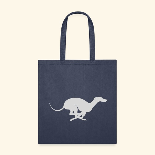 Light Grey Running Greyhound - Tote Bag