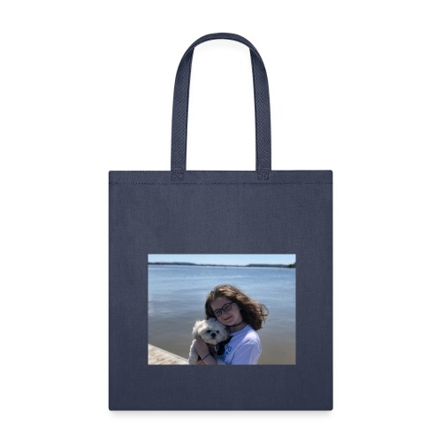Cute Merch With Dog And Girl - Tote Bag