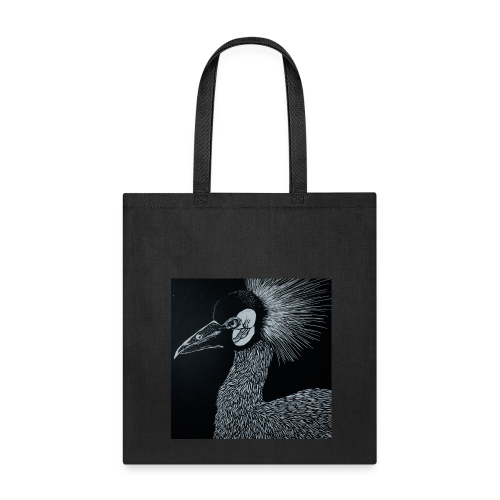 Black Crowned Crane - Tote Bag