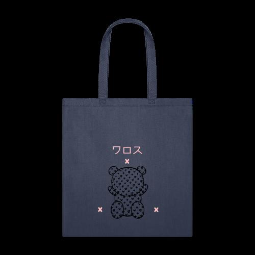 warosu x logo pink black X - Tote Bag
