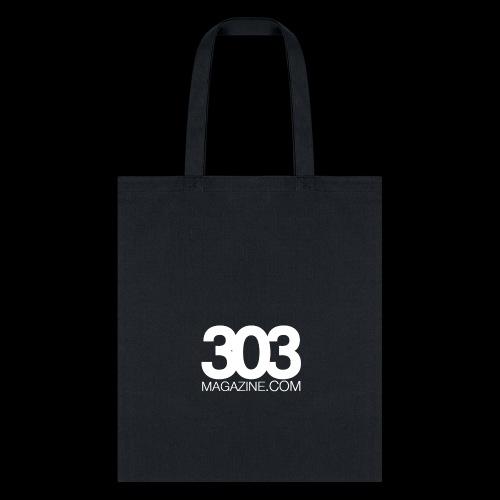 303 Magazine — White Logo - Tote Bag