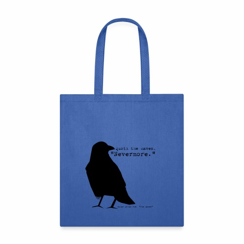 Poe, The Raven, in black - Tote Bag