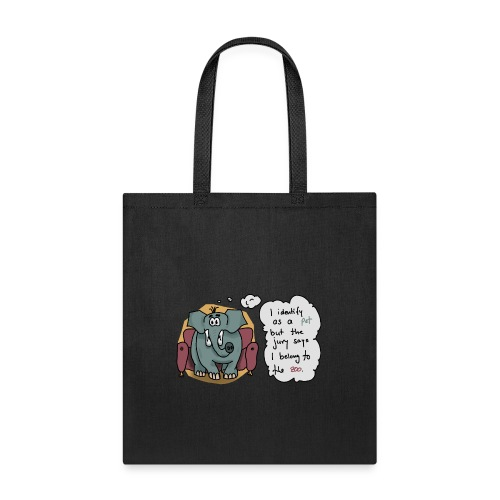Elephant sitting on a couch - Tote Bag